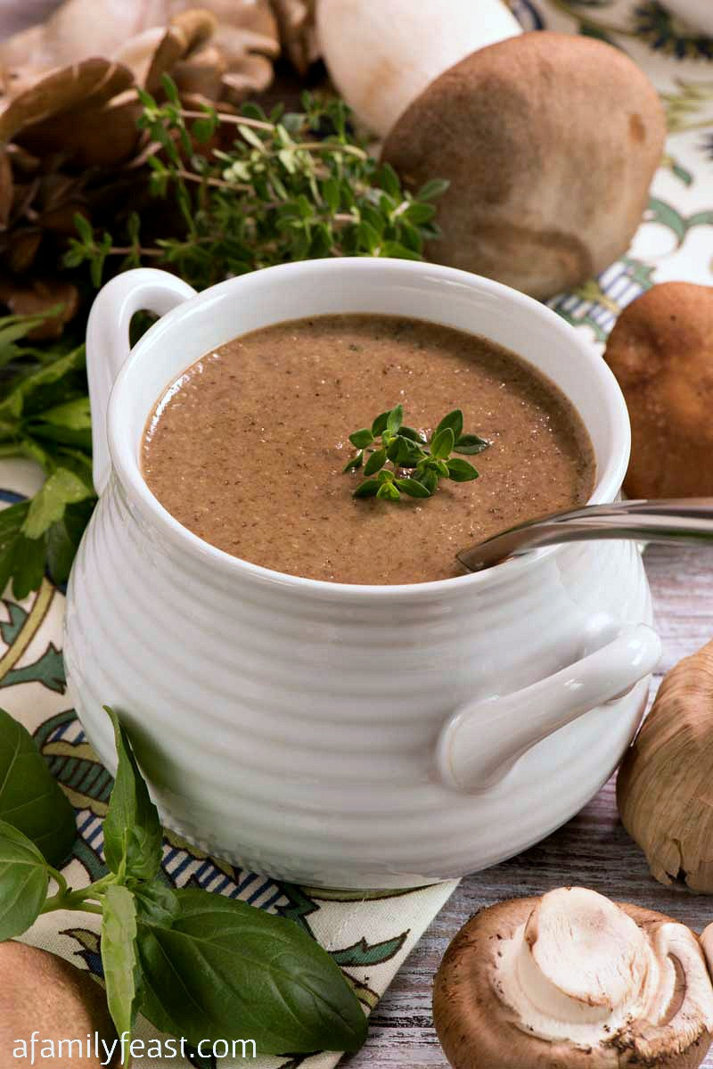Wild Mushroom and Black Garlic Soup - A Family Feast
