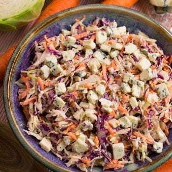 Blue Cheese Coleslaw - A Family Feast
