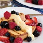 Grilled Pound Cake with Vanilla Custard and Fresh Berries