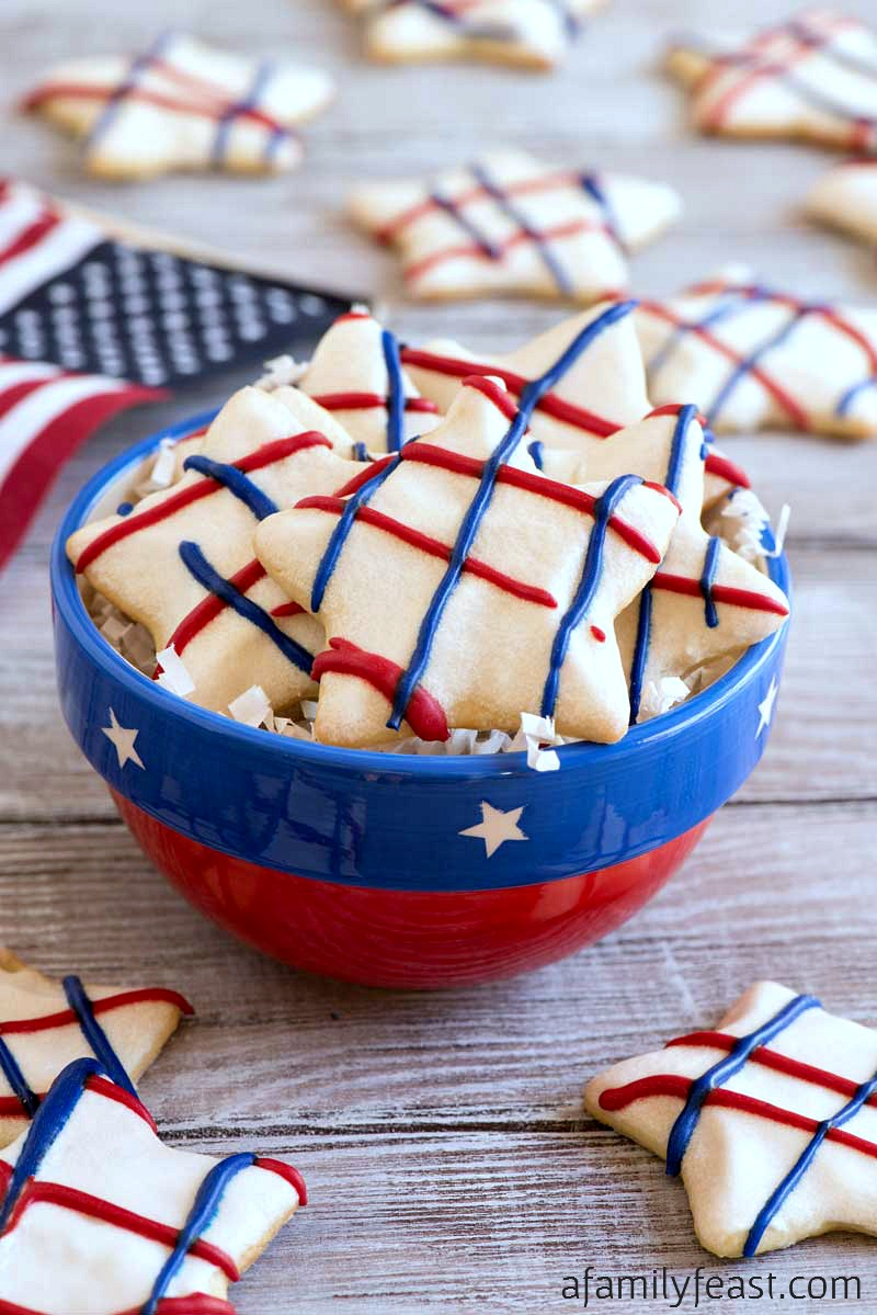 Our Star Spangled Sugar Cookies are a festive addition to any July 4th party menu!