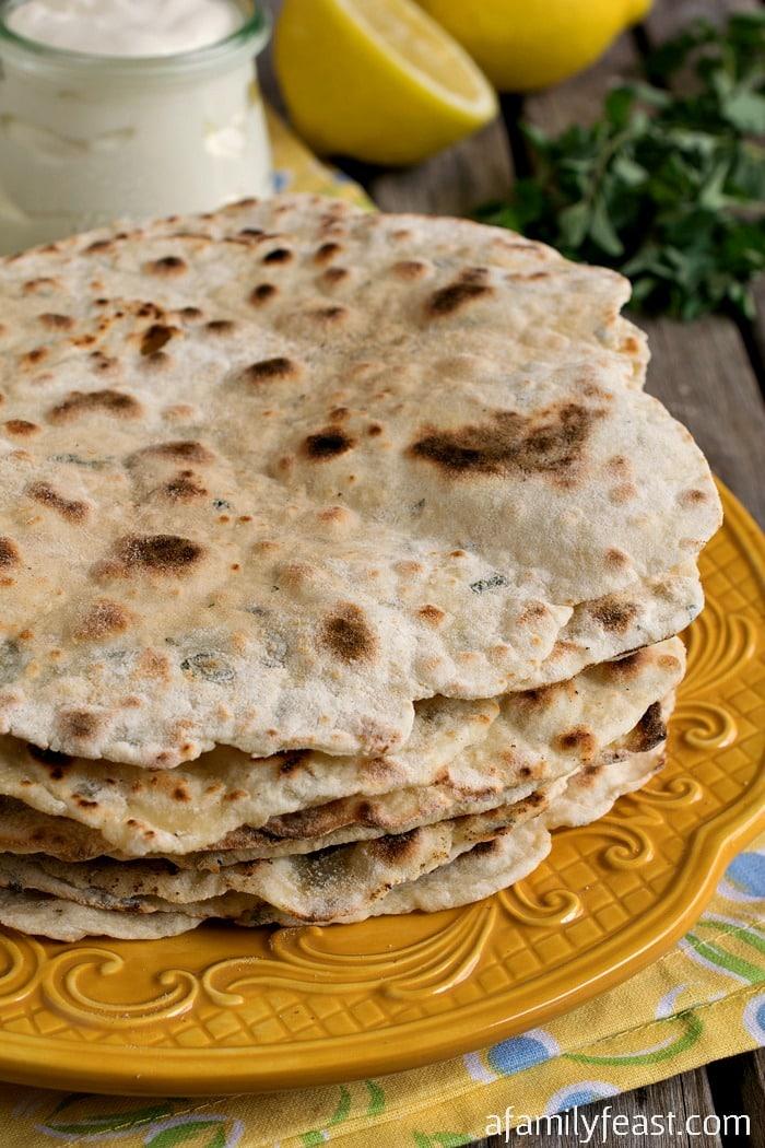 two ingredient Turkish Flatbread