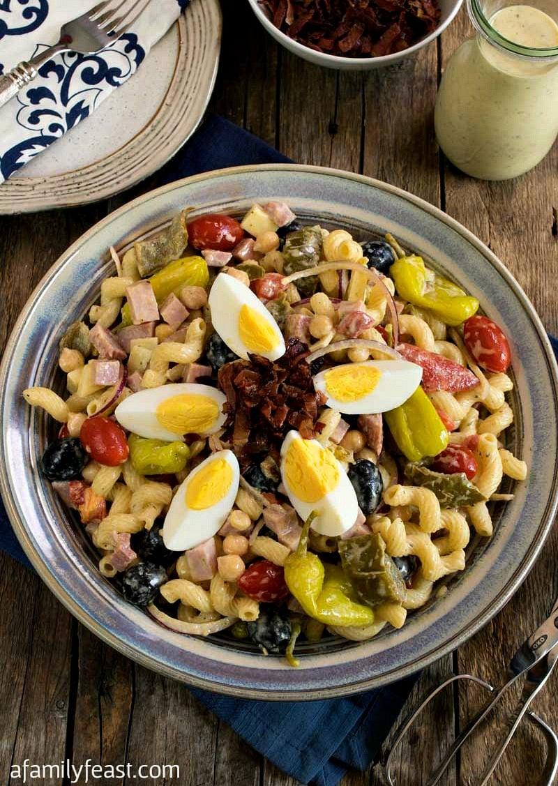 pasta salad with creamy italian dressing
