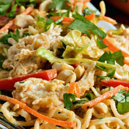 Thai Peanut Chicken Noodle Salad - A Family Feast