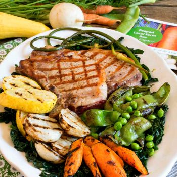 Grilled Pork Chops with Grilled Vegetable Medley - A Family Feast