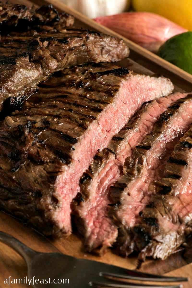 Skirt Steak marinated in leftover margarita mix