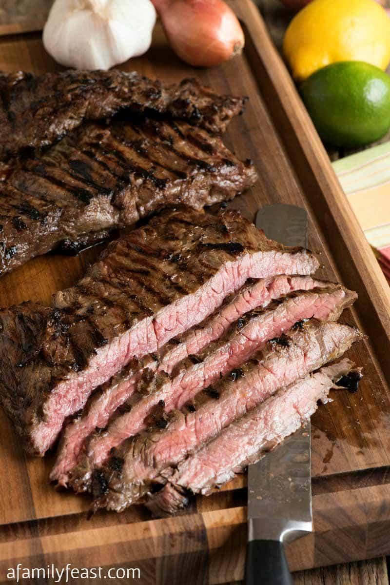 Make this tender, juicy and delicious Margarita Skirt Steak using leftover margarita mix!