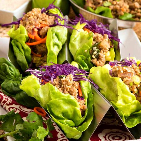 Pork Larb Lettuce Wraps - A Family Feast