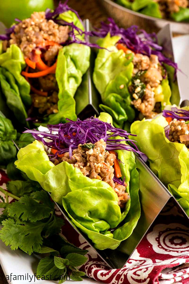 These Pork Larb Lettuce Cups are super flavorful and easy to make!