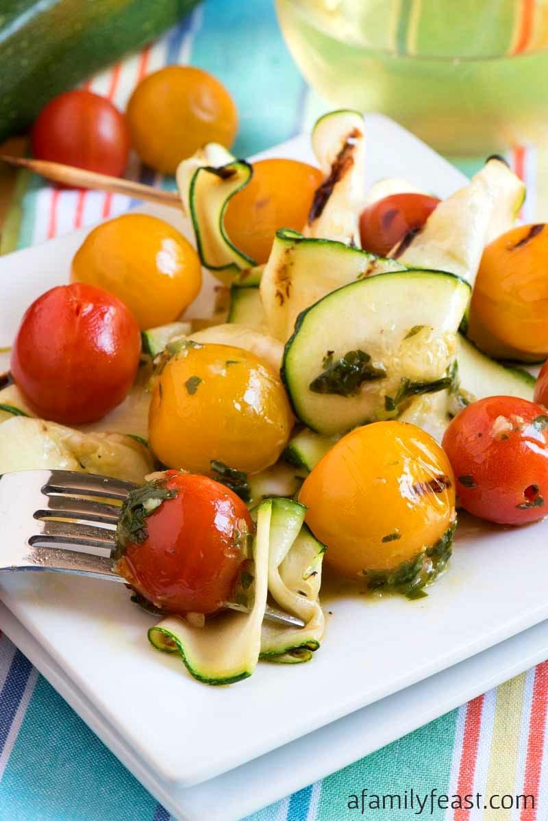grilled garden tomato and zucchini recipe