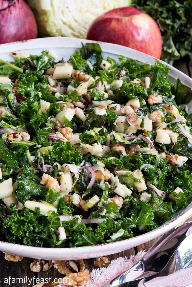Kale Apple Walnut Salad