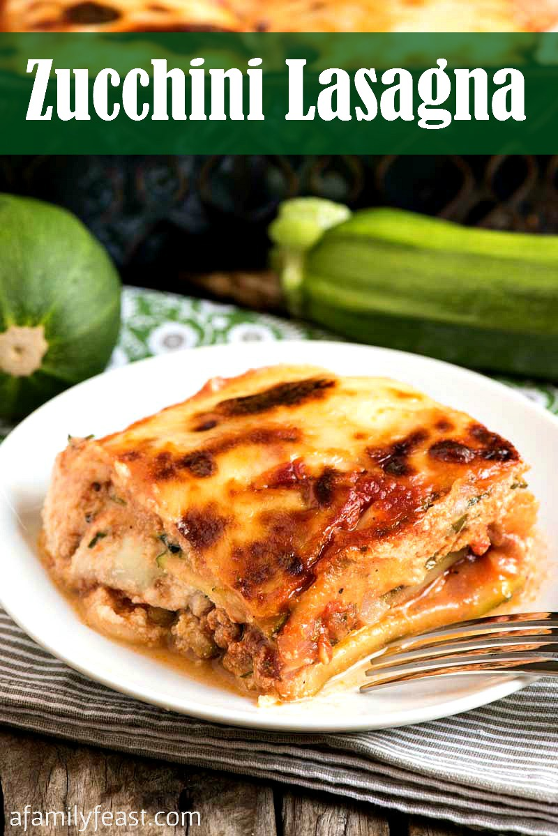 Our Zucchini Lasagna is cheesy and meaty…and a delicious way to use up those large zucchini growing in your garden. | low carb lasagna |