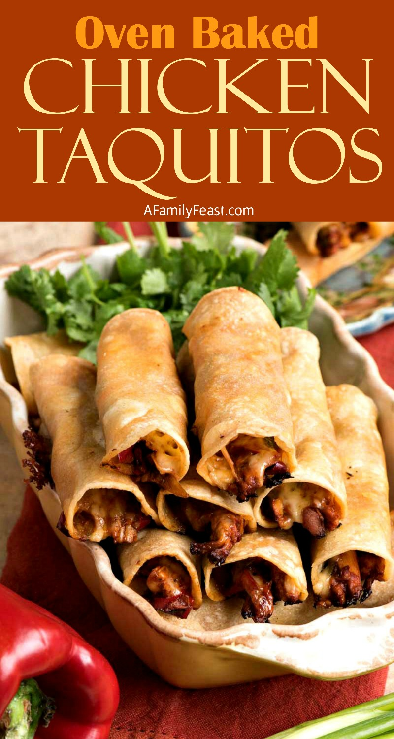 Baked Chicken Taquitos - A Family Feast