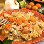 Farfalle with Zucchini and Sun Gold Tomato Sauce