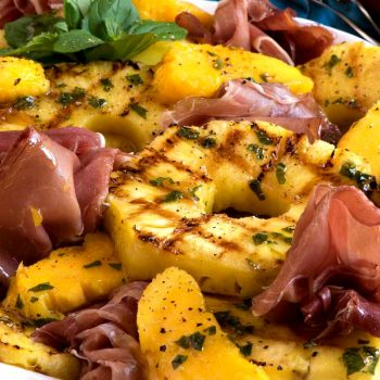 Grilled Tropical Fruit Salad with Prosciutto - A Family Feast