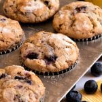 Lemon Blueberry Zucchini Muffins