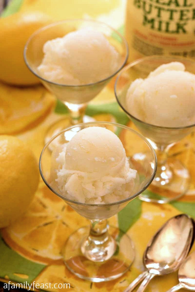 Lemon Buttermilk Sorbet