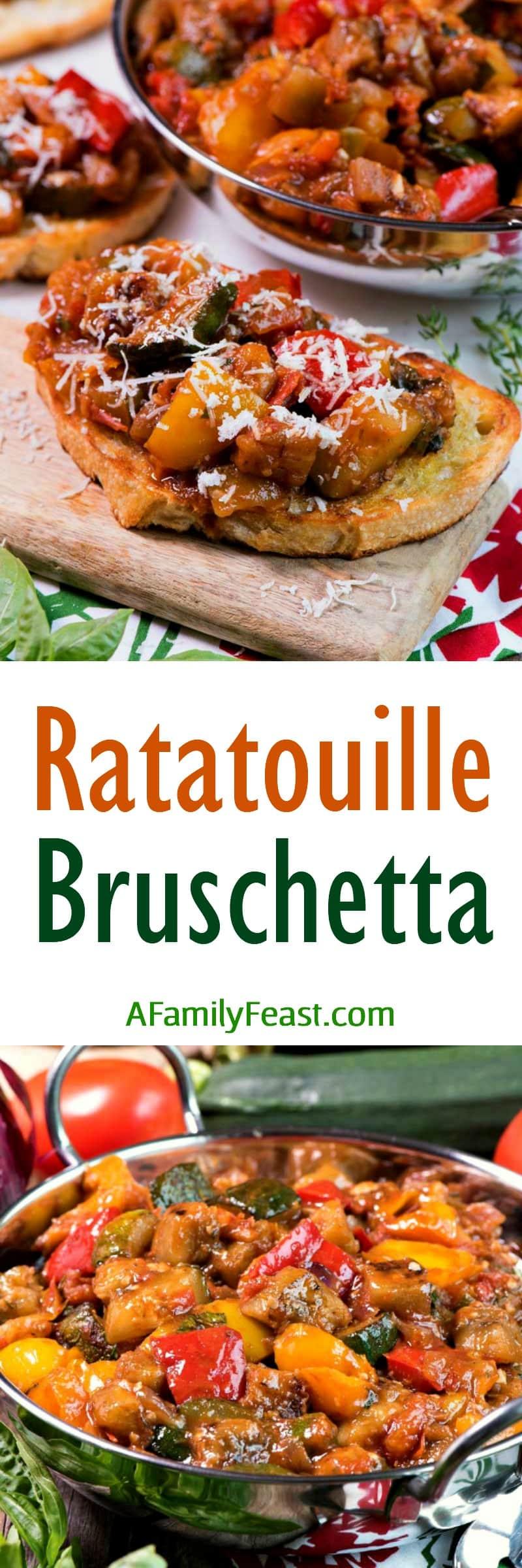 Ratatouille Bruschetta - A Family Feast