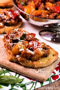 Ratatouille Bruschetta - A Family Feast