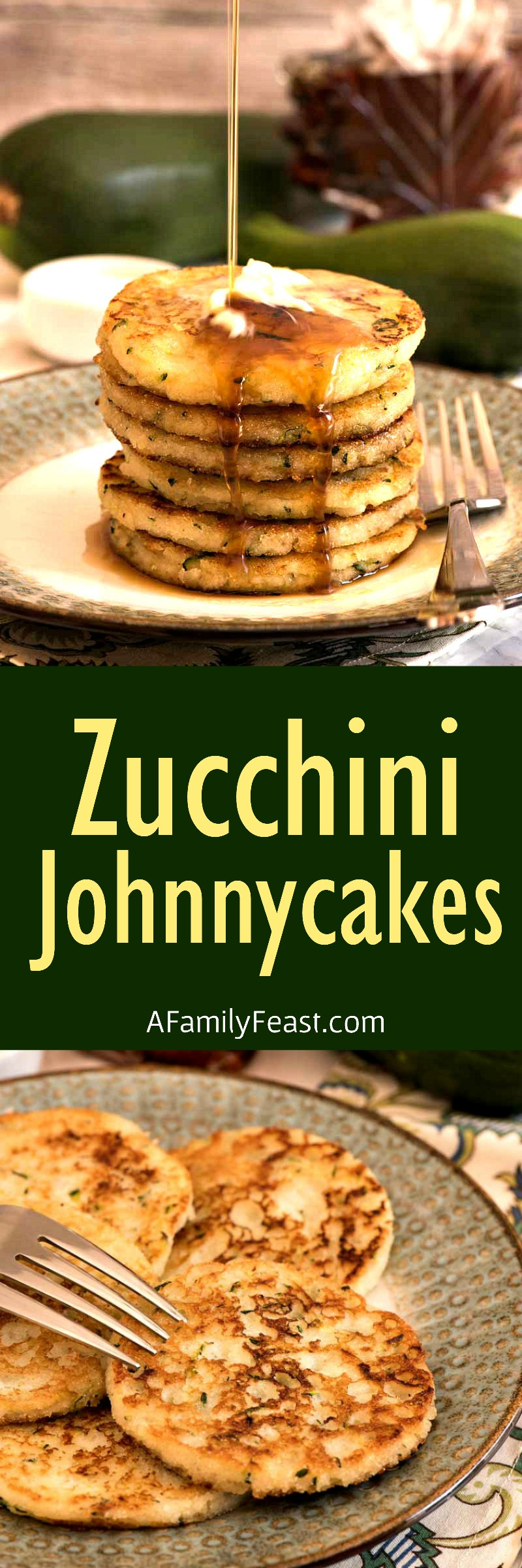 Zucchini Johnnycakes are a delicious change-up to a New England classic recipe! Plus – they're another great way to cook with your summer garden zucchini.