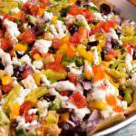 Mediterranean Nachos - A Family Feast