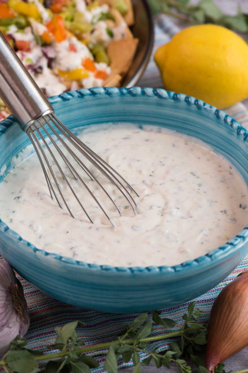 creamy Greek yogurt sauce