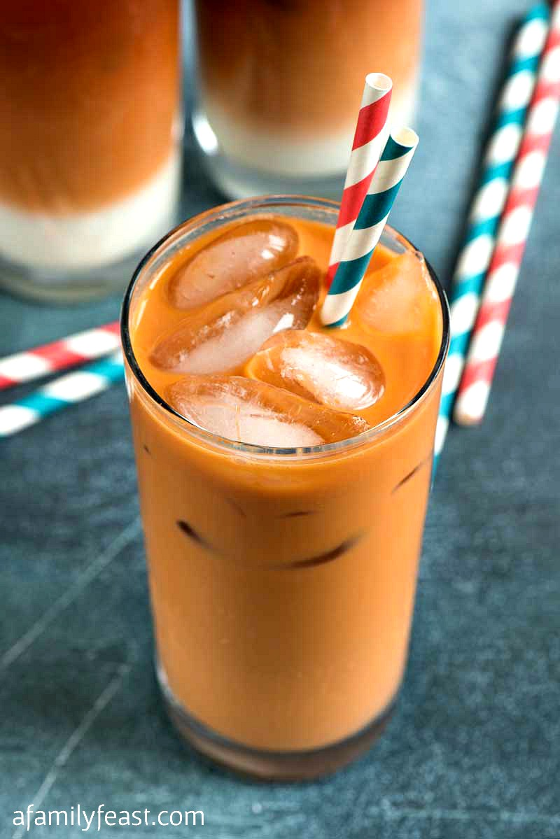 Thai Iced Tea -No need to wait until you visit your favorite Thai restaurant…make this easy, delicious Thai Iced Tea at home!