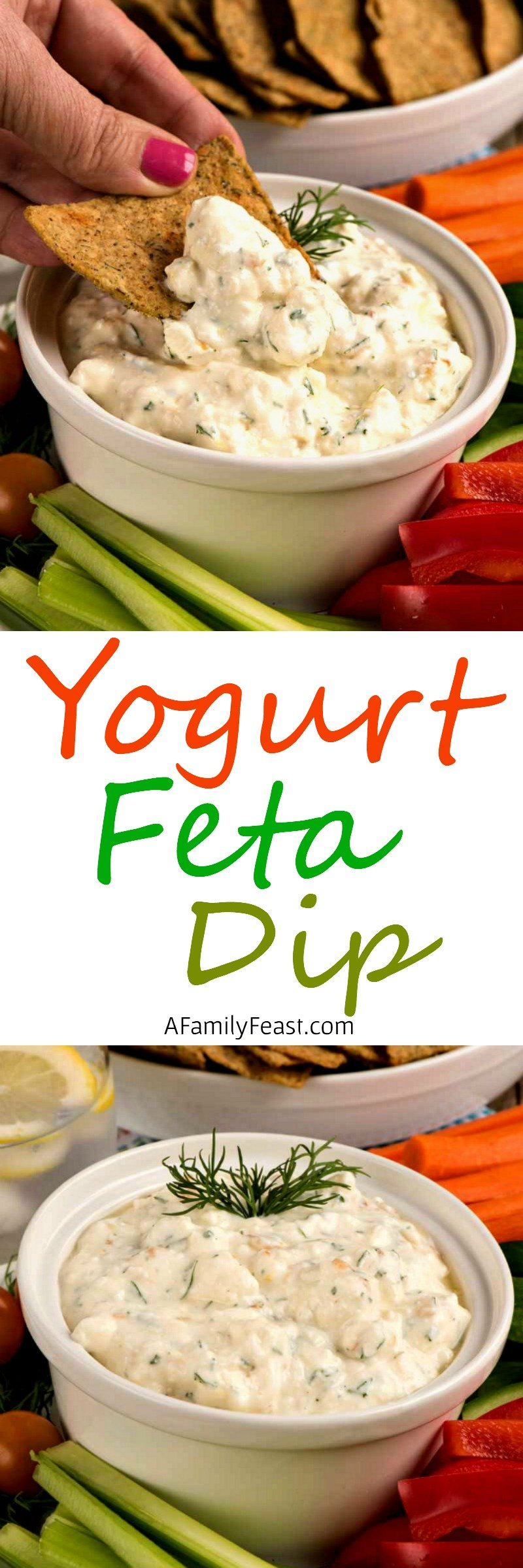 Yogurt and Feta Dip - This creamy healthy dip is easy to make and is delicious served with chips or veggies.