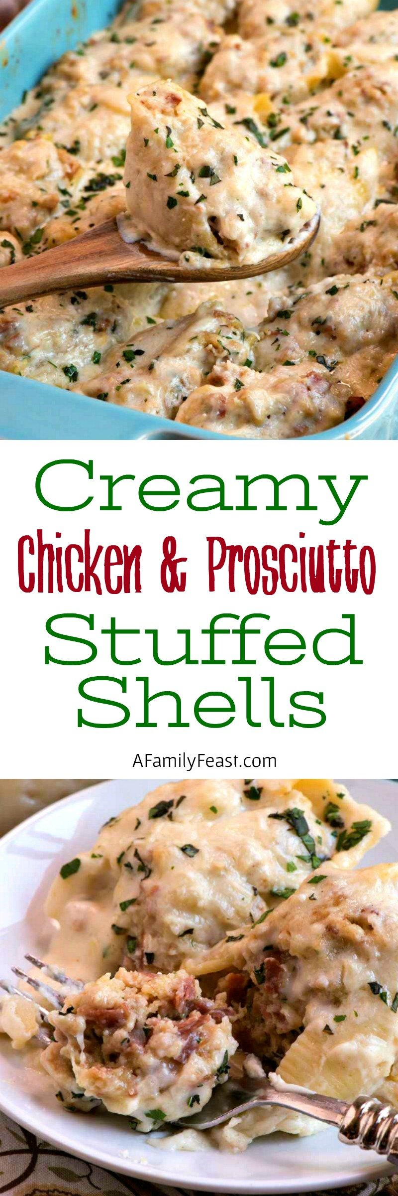 Creamy Chicken and Prosciutto Stuffed Shells