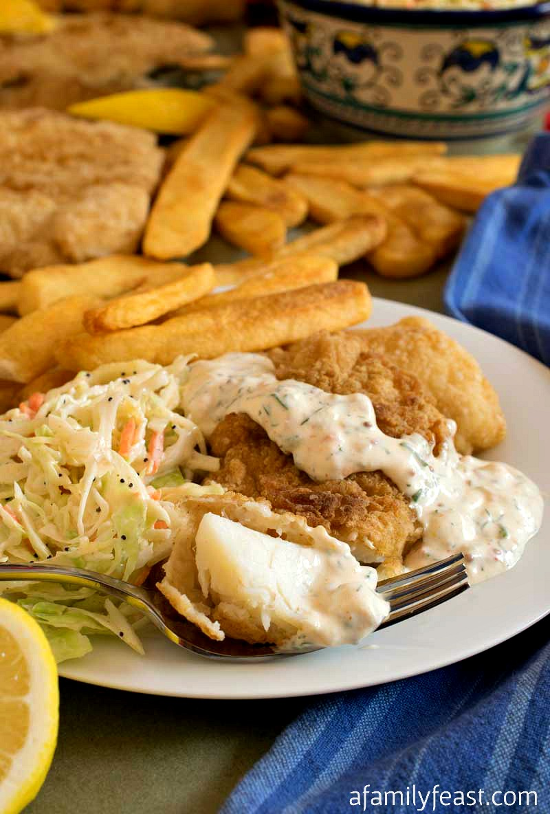 battered fried haddock