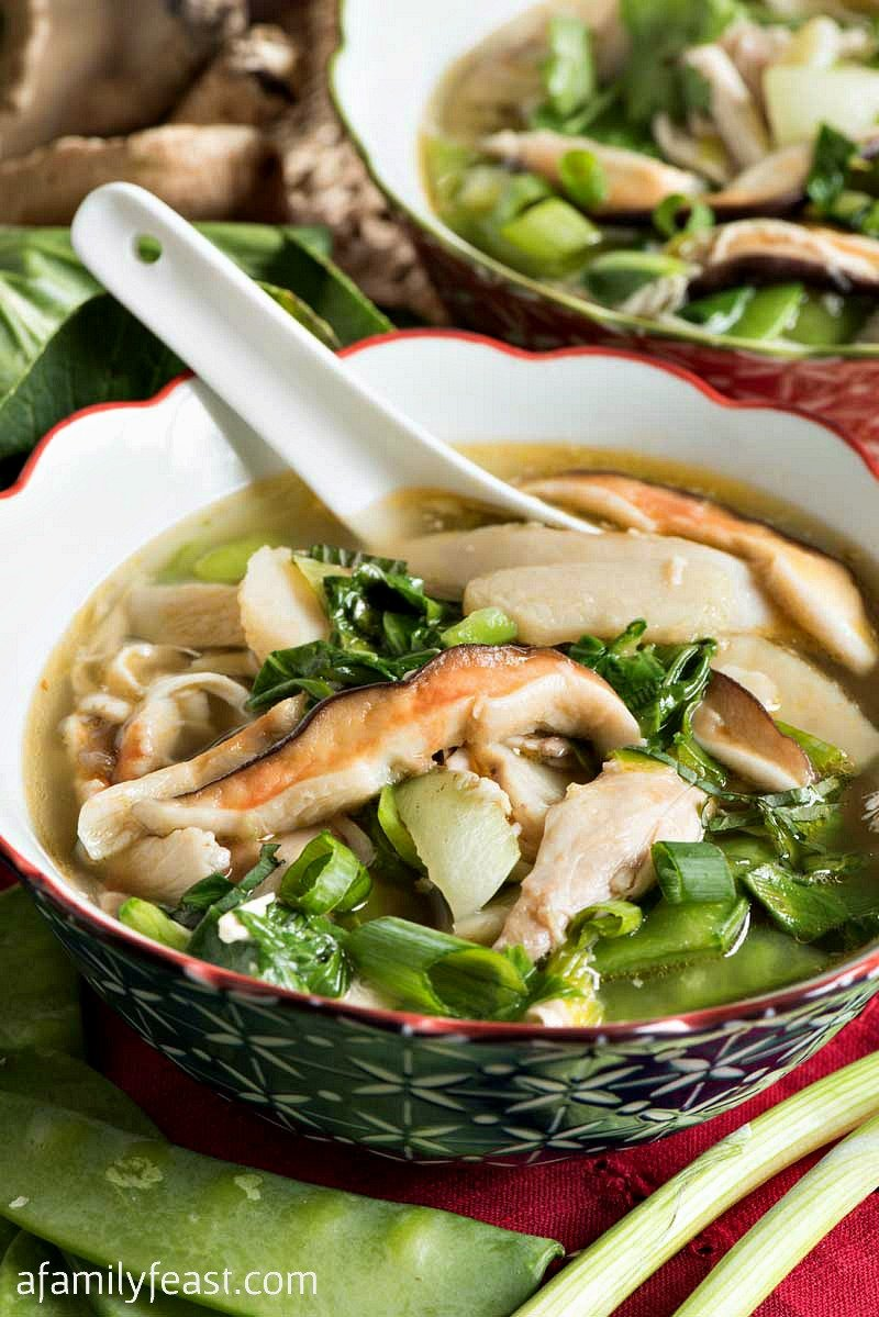 This Asian Chicken Soup is easy to make and full of healthy, delicious ingredients!