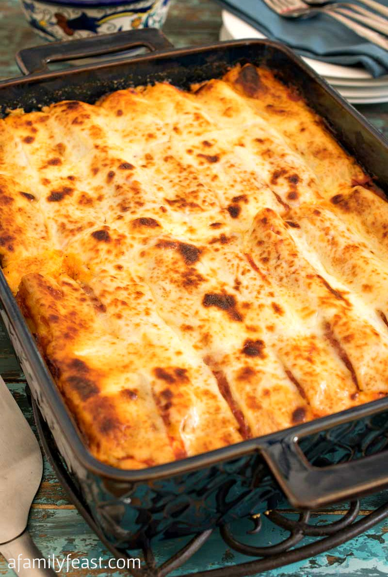 Baked Manicotti with Turkey Sausage