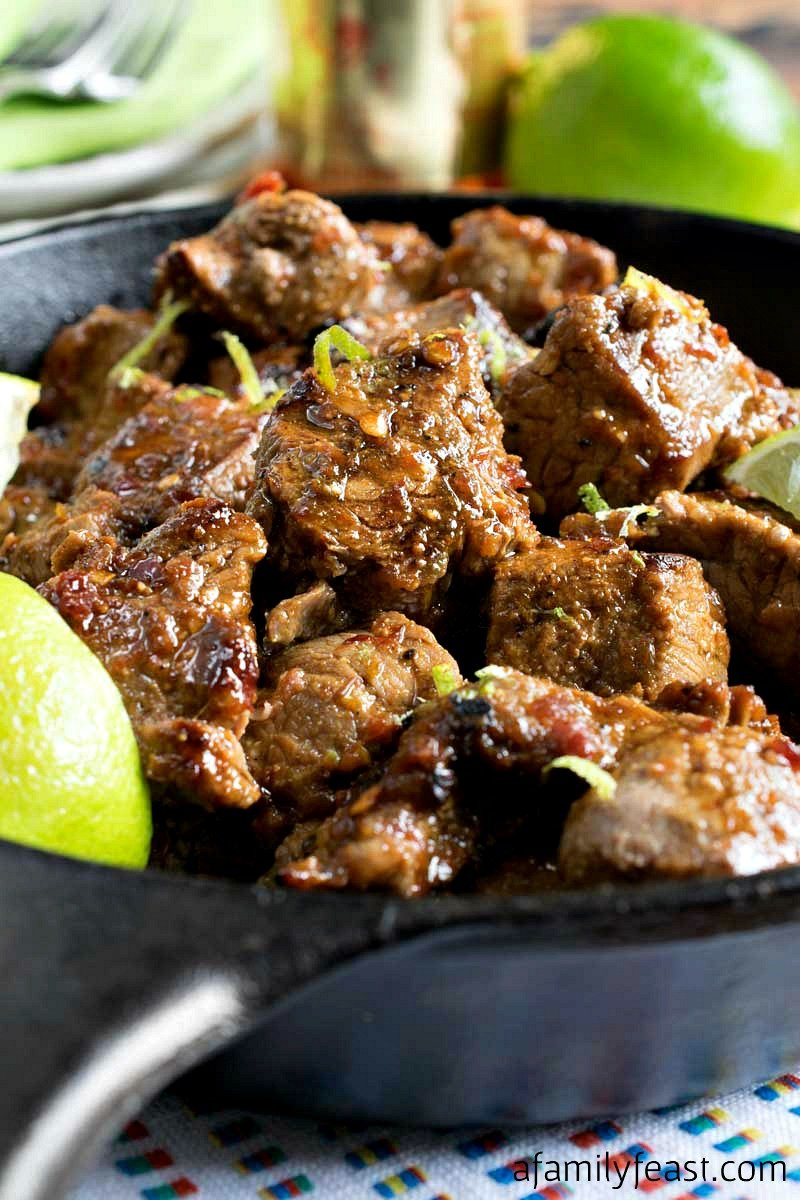 Chili Lime Steak Bites - A Family Feast