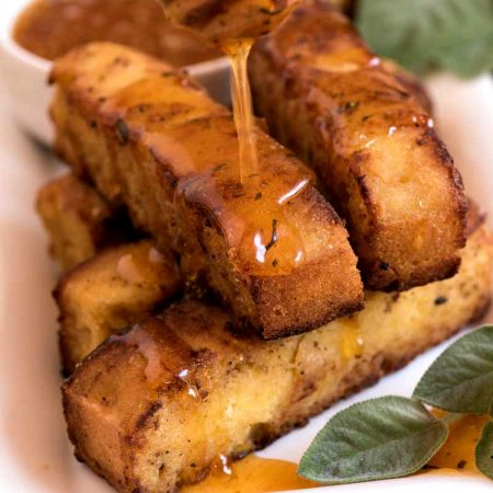 Corn Bread Fries with Honey-Sage Dipping Sauce