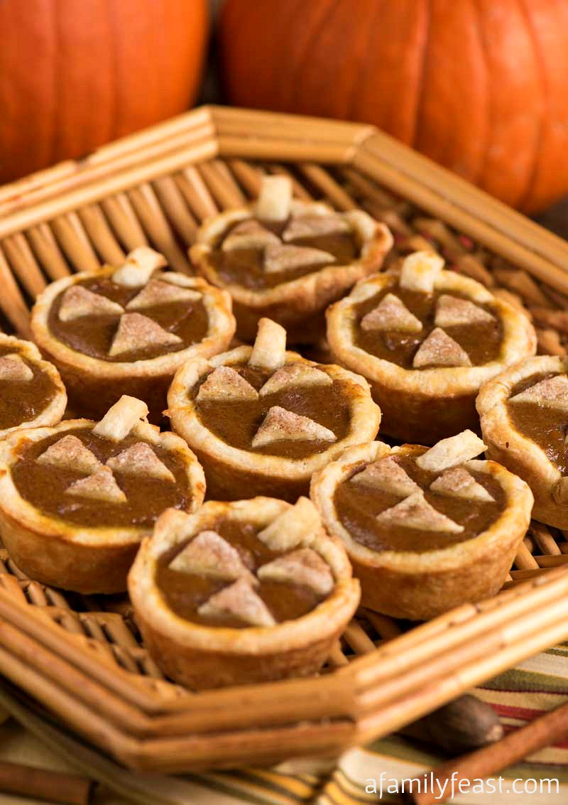 Mini Pumpkin Pies are the perfect, easy dessert for Halloween parties or your Fall holiday dessert tray!