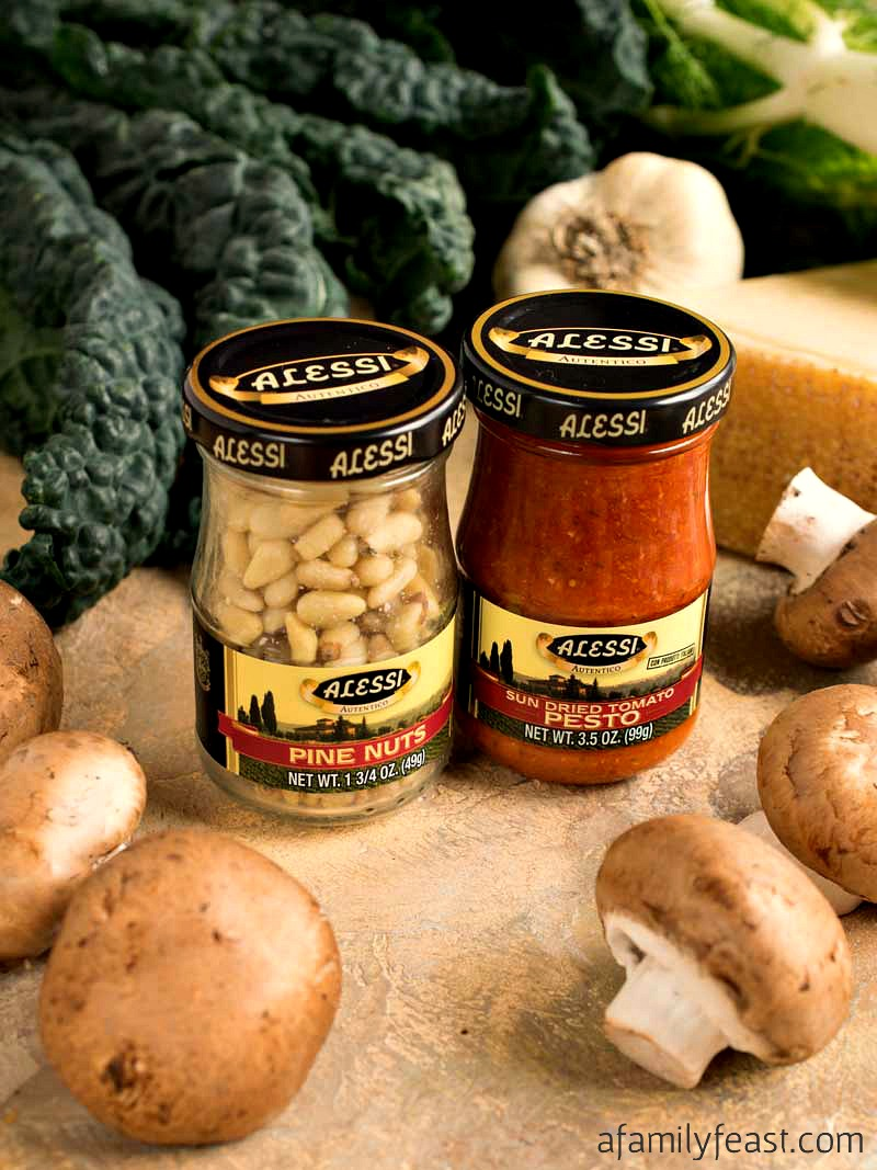 Tuscan Stuffed Mushrooms