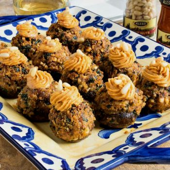 Tuscan Stuffed Cremini Mushrooms