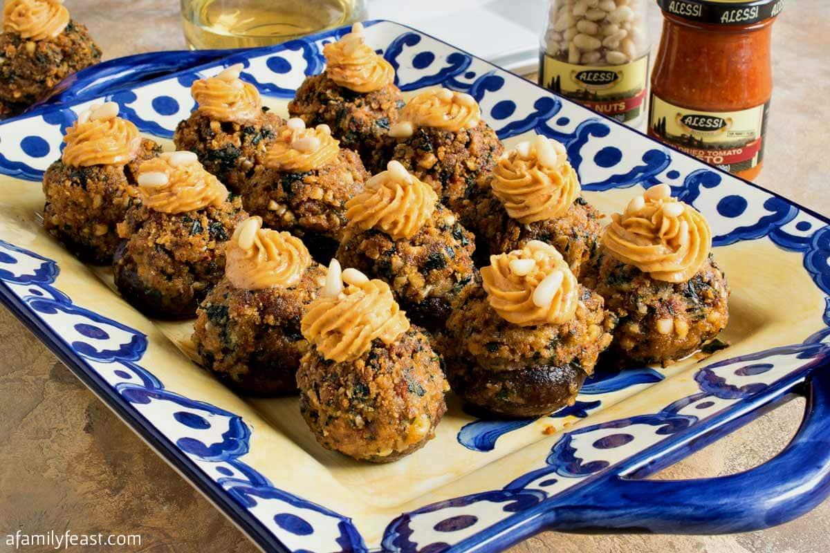 Tuscan Stuffed Cremini Mushrooms recipe