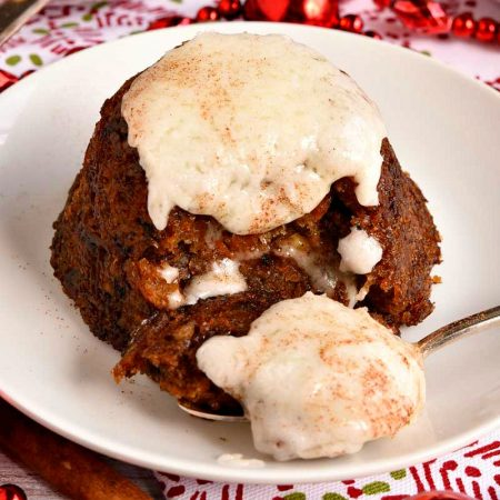 Christmas Pudding with Hard Sauce