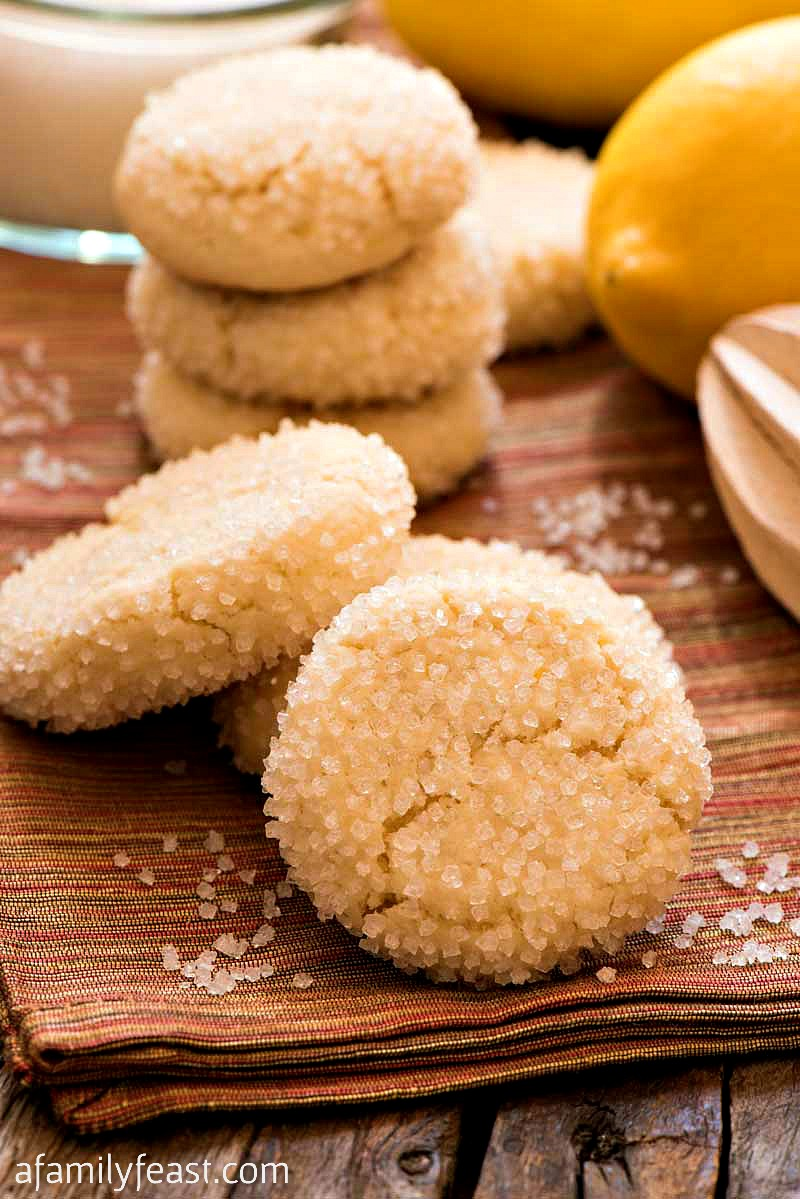 These Lemon Sugar Cookies are sweet and crunchy on the outside and soft and lemony on the inside! You'll want to make room on the cookie tray for these fantastic cookies!
