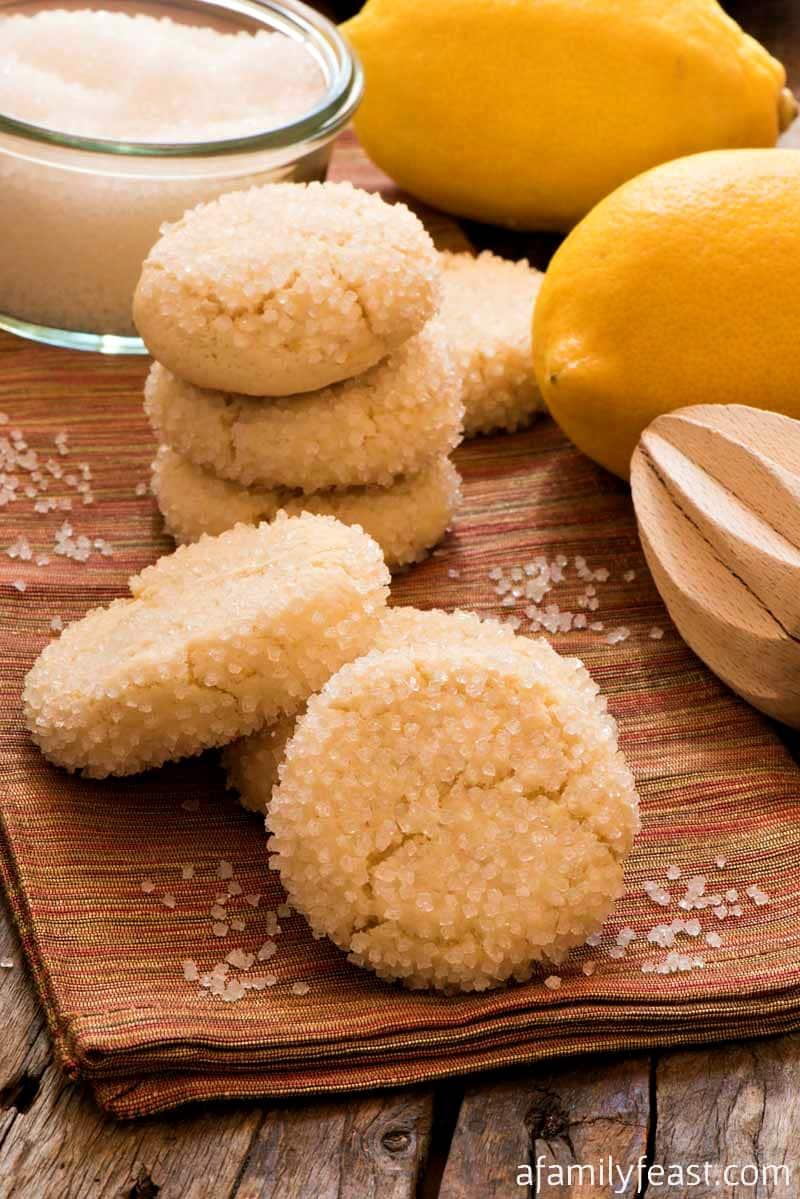Lemon Sugar Cookies - A Family Feast