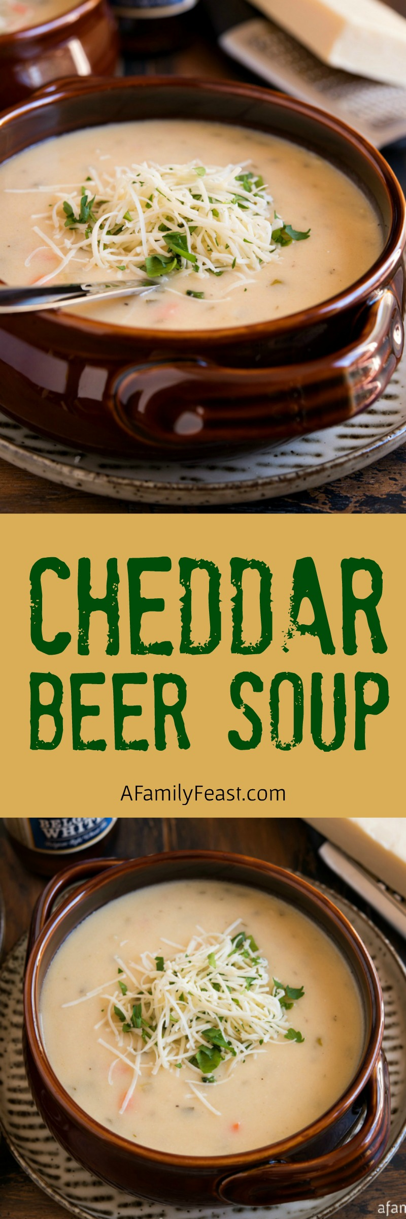 Cheddar Beer Soup - A Family Feast