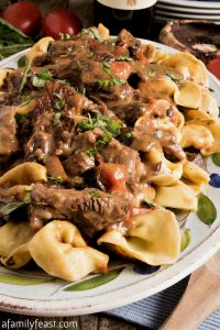 Braised Beef and Tortelloni