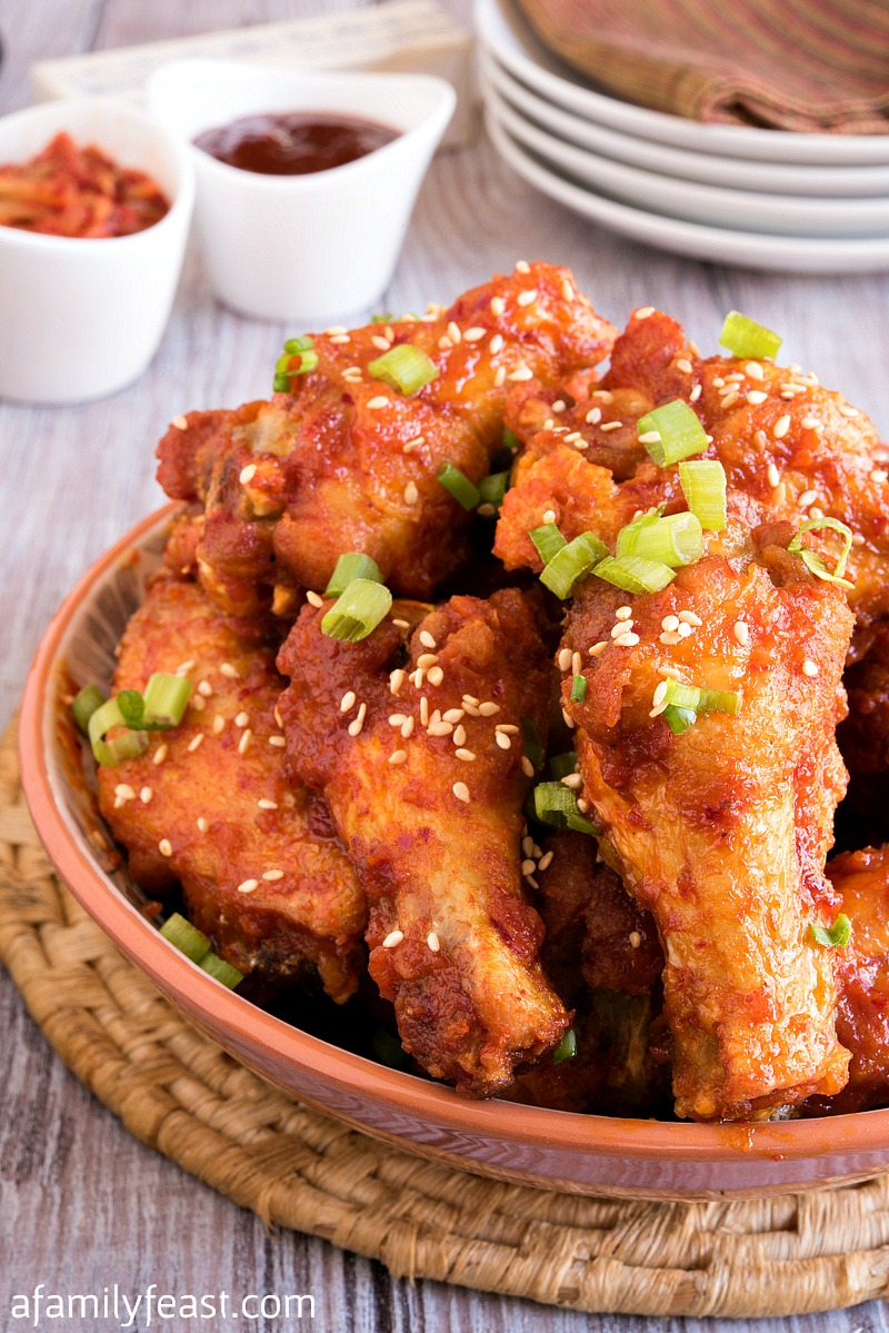 Korean-Style Kimchi Gochujang Chicken Wings