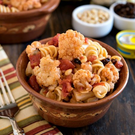 Fusilli with Cauliflower