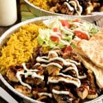 Halal Cart-Style Chicken and Rice with White Yogurt Sauce