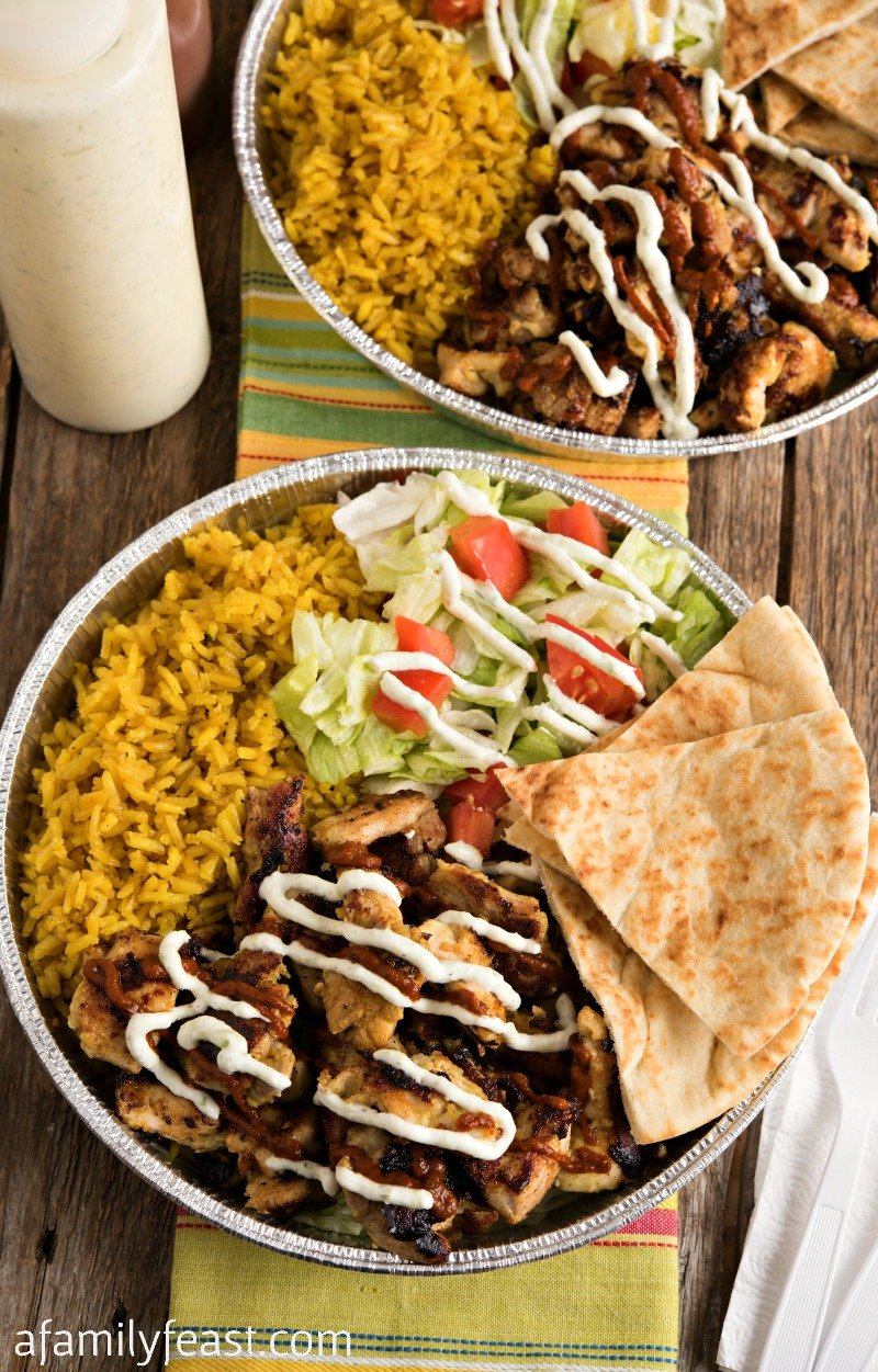 Halal Cart-Style Chicken and Rice with White Sauce