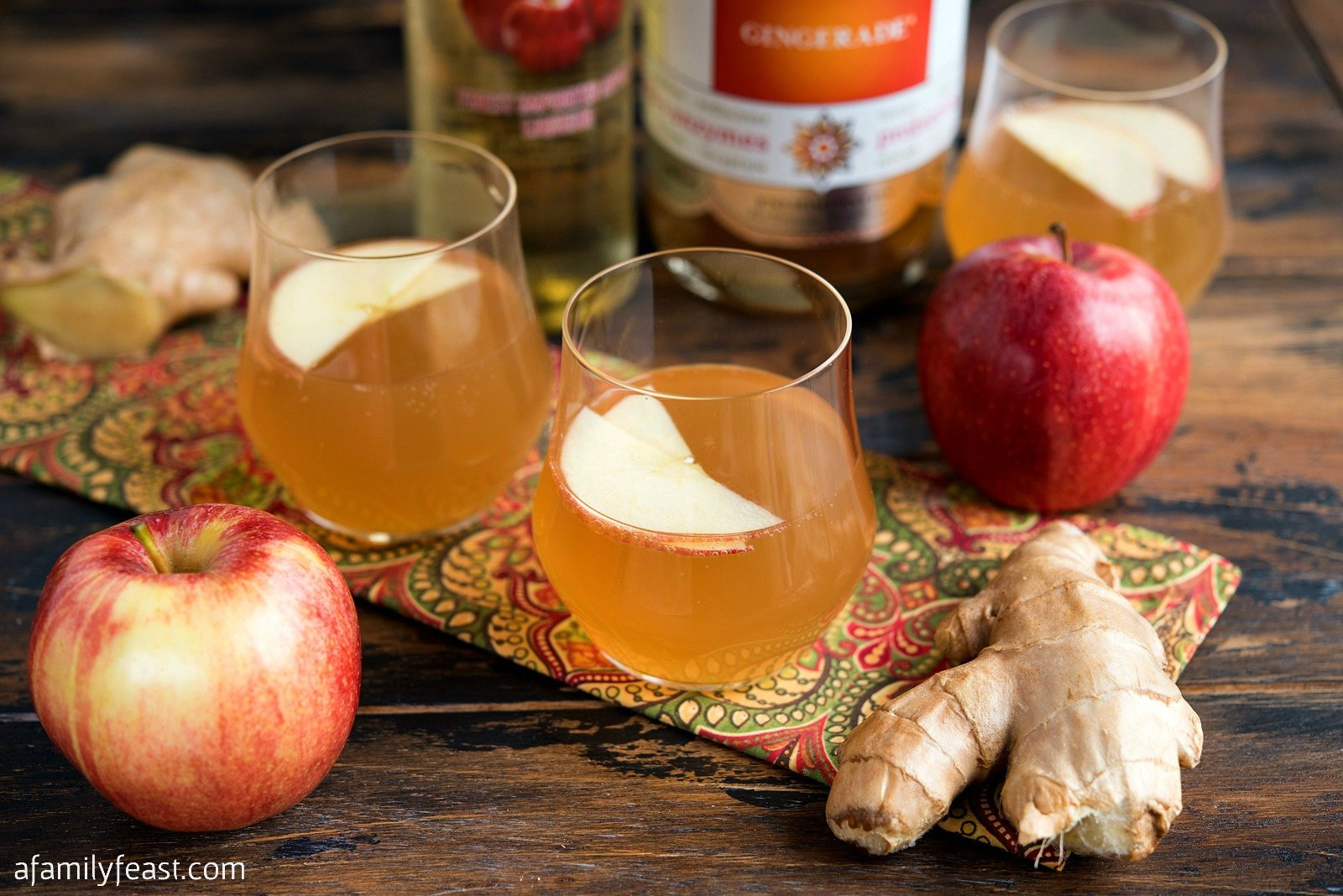 Apple Ginger Kombucha Cocktail A Family Feast