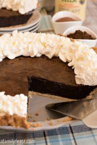 Malted Chocolate Buttermilk Pie