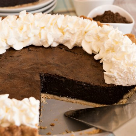 Malted Chocolate Buttermilk Pie