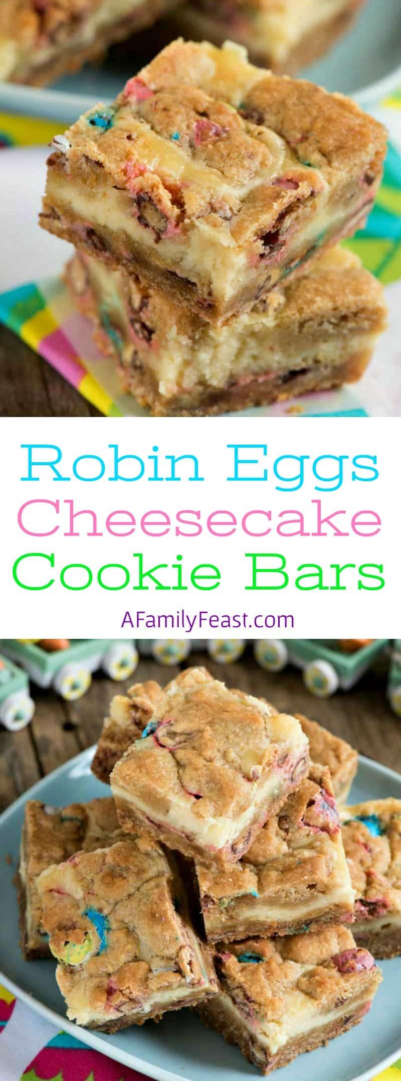 Robin Egg Cheesecake Cookie Bars